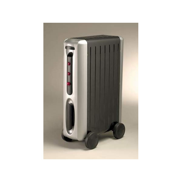 Oil filled radiator Compact 1500W silver&grey